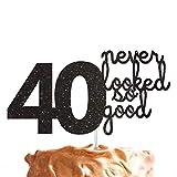 LissieLou Kuchenaufsatz zum 40. Geburtstag, Motiv: 40 Never Looked So Good (in englischer Sprache)