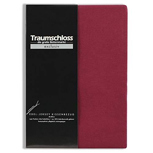 Traumschloss Edel-Jersey Kissenbezug Exclusiv 40 x 80 cm Bordeaux