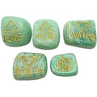 HARMONIZE Amazonite Elemental Quarter Set von 5 Reiki heilenden Stein spirituellen Energie-Generator preisvergleich bei billige-tabletten.eu