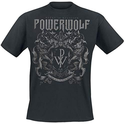 Powerwolf Crest - Metal is Religion T-Shirt schwarz L