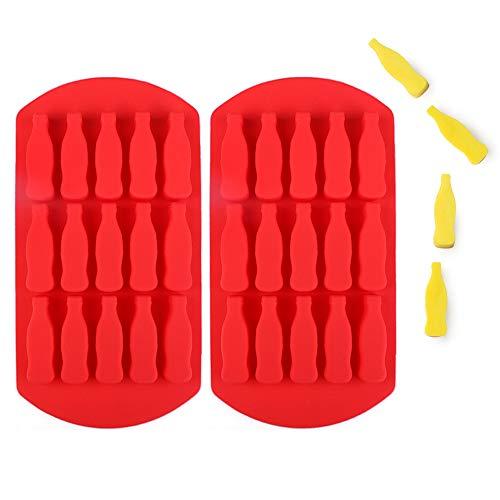 2 Stück Schokolade (Fewo 2 Stück Coca Cola Glasflasche Eiswürfelform Coke Cola Silikon Form für Schokolade Süßigkeiten Gummy Eiswürfel Gelee Kuchen Mini Seife Wachsmalstift Schmelzen)