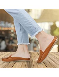 Sir Fitshoe Brand Open Back Loafer Mules Light Weight Casual Belly Ballet Flat Shoes for Womens and Girls Price in India