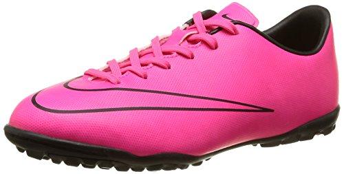 Nike Mercurial Victory V Tf, Chaussures de football garçon Rose - Pink (Hyper Pink/Hyper Pink/Black/Black)