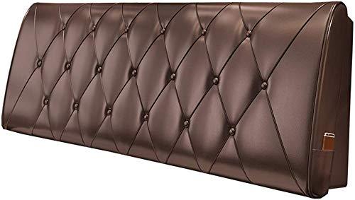 Kissen Nachttisch Softpack Doppelbett Rückenlehne Kunstleder Kissenbezug 5 Größen - geeignet für Bett mit Kopfteil (Farbe: Schokolade Farbe, Größe: 90 * 10 * 60cm) -