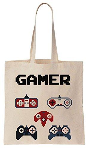 Gamer Starter Kit A Bunch Of Remotes Tote Bag Baumwoll Segeltuch Einkaufstasche Dei Remote-starter