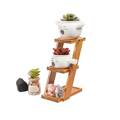 3 Niveaux En Bois Plante Échelle Miniature Petite Fleur Stand Pour Intérieur Plante Escaliers Fleur Échelle Échelle