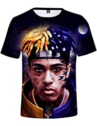 a3ad702e8 FLYCHEN Camiseta Xxxtentacion 3D Impreso Informal para Hombre Xxxtentacion  Rapper Hip Hop Top Música