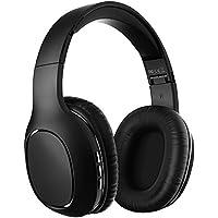Auriculares Bluetooth de Diadema Inalámbricos, Yutre Cascos Bluetooth Plegable con Micrófono Manos Libres y Hi-Fi Sonido Orejeras de Memoria Suave para TV, PC, Tablet, Móvil, Negro