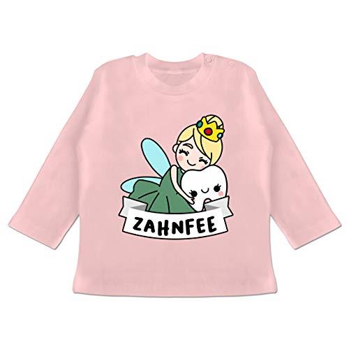 Zahnfee Mädchen Kleines Kostüm - Karneval und Fasching Baby - Zahnfee Kostüm - 6-12 Monate - Babyrosa - BZ11 - Baby T-Shirt Langarm