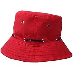 Bonnets,OIKAY- Hommes Femmes Seau Chapeau Mode Chapeau en Plein Air Soleil Chapeau Voyage Casual Pot Seau Chapeau Plage Chapeau De Soleil Chapeaux Fedora et Trilby