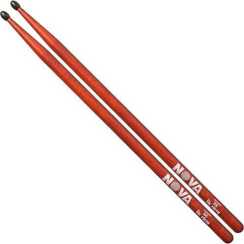 Vic Firth vf-n5anr Nova 5A Nylon Tip Drum Sticks–Rot (Hickory 5a Nylon Tip)