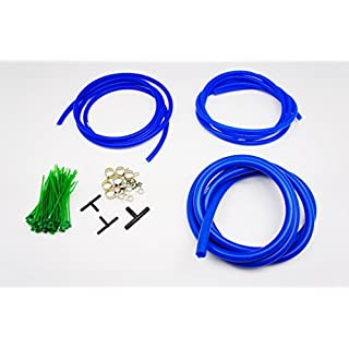 Autobahn88 Engine Room Silicone Vacuum Hose Dress Up DIY Kit, Universal Fit All Vehicle Makes and Models (Blue)