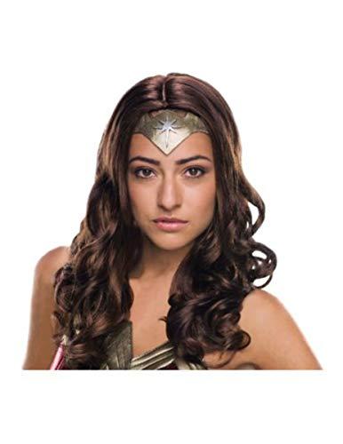 Generique - Wonder Woman-Damen-Perücke Deluxe Lizenz braun