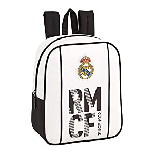 41DtkLuEQoL. SS300  - Real Madrid CF niños Equipaje, Blanca/Negra, 27 cm
