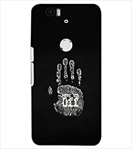 PrintDhaba KEEP EM OFF D-6978 Back Case Cover for HUAWEI NEXUS 6P (Multi-Coloured)