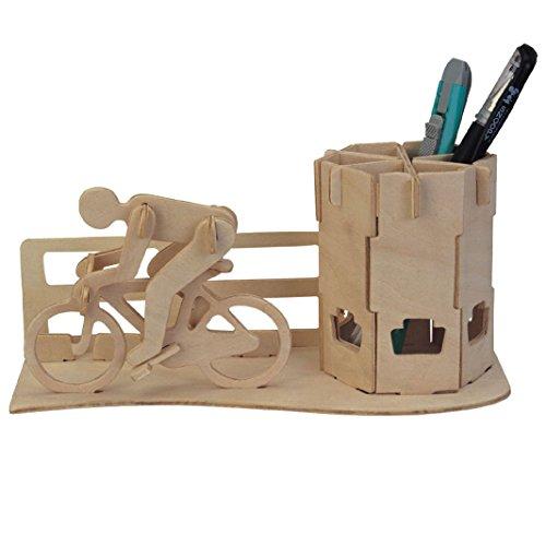 Preisvergleich Produktbild DIY 3D-Holz-Puzzle Rennrad Federbehälter Modell Kit Spielzeug Puzzle Geschenk