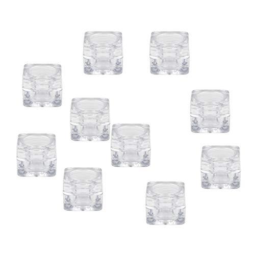 Homyl 10pcs 5g Pot Vide Rond avec Couvercle Cosmetic Container Boîte de Rangement pour Crèmes Stockage Onguents Toners Contenant Maquillage Vide
