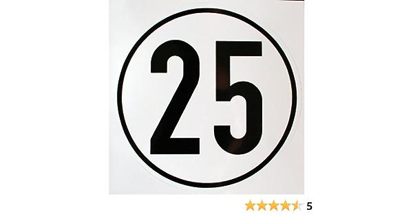 Unbekannt Geschwindigkeitsschild 25 Km H Hinweisschild Für Kraftfahrzeuge Zulässige Höchstgeschwindigkeit Alu Geprägt Ø 200 Mm Zur Anbringung An Das Fahrzeug 25 Km H Auto