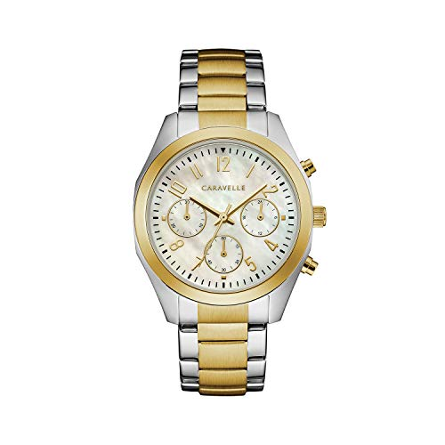 Caravelle orologio al quarzo in acciaio INOX vestito da donna, colore: due tonalità (Model: 45L169)