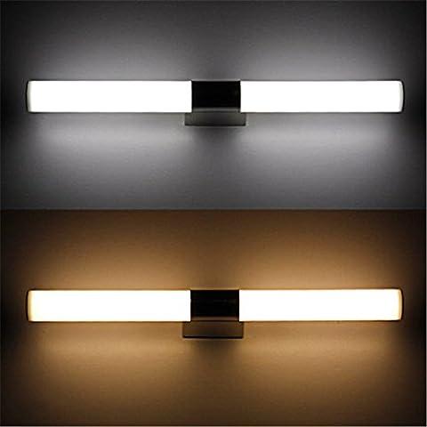 LYNDM 8W 40cm impermeabile led Luce specchio di impedire la nebbia led indoor illuminazione per bagno AC V85-265,bianco caldo(#JD-0439)