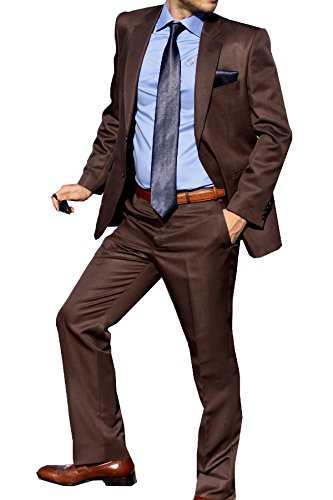 Keskin collection-costume-homme-marron brillant Marron - Marron