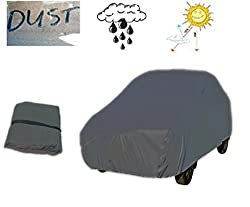 Premium Dark Grey Car Body Cover for Maruti WagonR(Old) with Free Chamois cloth and one Car key cover