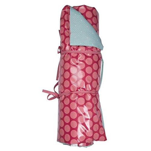 A.U MAISON Picknickdecke große und kleine Punkte 70x180cm hellblau pink
