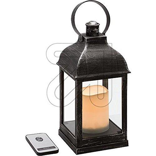 LuminalPark Farolillo Vidrio plástico Negro Vela