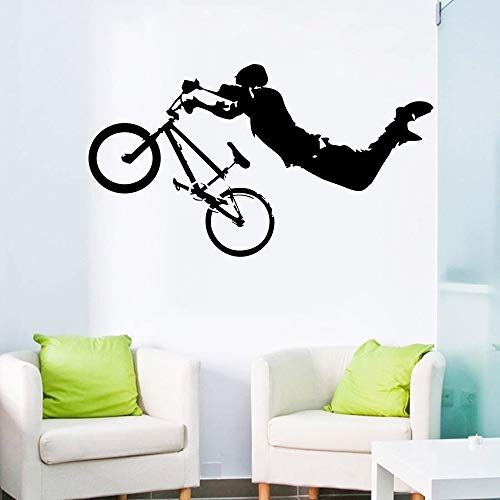 JJHR Wandtattoos Wandaufkleber Junge Riesen BMX Wandkunst Wandtattoo Home Wandaufkleber Bett Zimmer Dekor Wandbild Poster 42 * 80 cm -