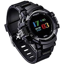 Reloj deportivo GPS, GOKOO smartwatch Reloj inteligente Al Aire Libre con Podómetro, Altímetro, Barómetro, Brújula, Temperatura, Monitor De Frecuencia Cardíaca, Monitor De Sueño para Hombres y Mujeres, Rastreador De Actividad para Android y iOS Phones