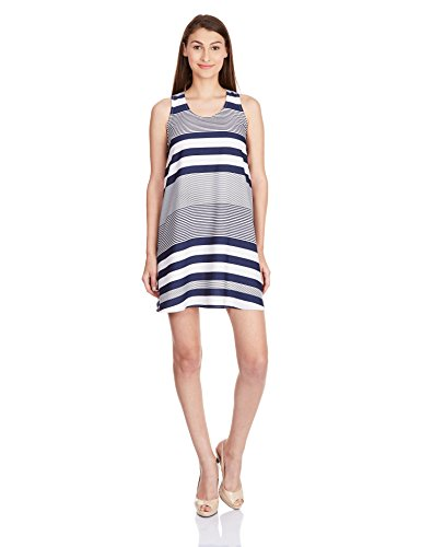 Anaphora Women's A-line Dress (56171_Navy Blue_Large)  available at amazon for Rs.419