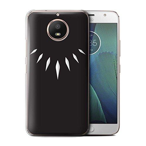 Stuff4® Hülle/Case für Motorola Moto E4 2017 / T'Challa Klauenhalskette Muster/Schwarzer Panther Inspiriert Kollektion (Motorola-handys An&t)