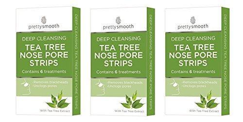 18 Nasenpflaster tief reinigend Teebaum (3 Packungen zu je 6 Stück) - entfernt Mitesser & befreit die Poren