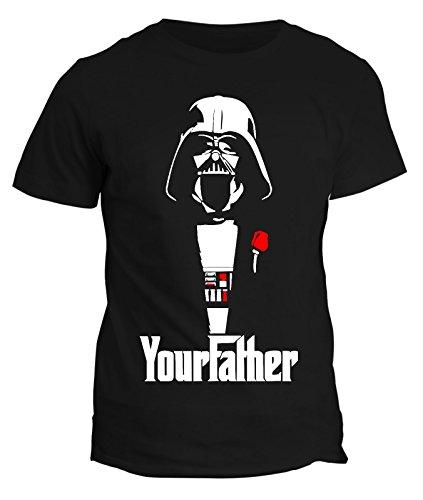T-shirt The Darth Father -humor star wars - guerre stellari stile mafia Vader uomo donna bambino