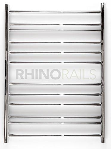 Rhinorails 810mm x 600mm Ergo plana de 600con toallero en acero inoxidable...