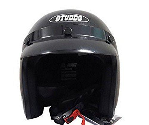 Studds Jetstar Classic Half Helmet (Black, XL)