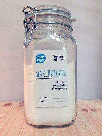 hello simple - DIY Waschpulver zum Selbermachen (700g) - Olivenöl - ideal für Allergiker, Babys und empfindliche Haut geeignet: ohne Enthärter, Enzyme, Duftstoffe & Plastikverpackung! - 2