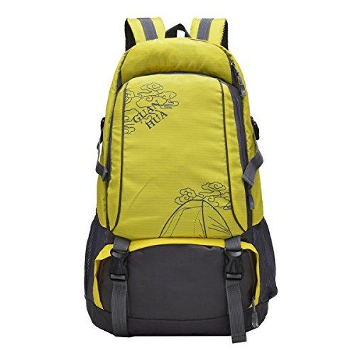 Yy.f Wasserdichte Verschleiß-resistente Nylon Outdoor Herren Schultertasche Reisetasche Groß-Kapazität Bergsteigen Tasche Mode Sport Rucksack Computer Rucksack. Mehrfarbig Red