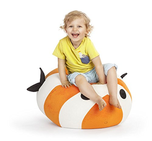 AVANTI TRENDSTORE - Kinder Sitzsack in verschiedenen Motiven, ca. B/H/T 60x50x50 cm / 150 l (Fisch)