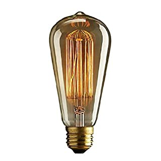 Autek Edison Squirrel Cage Vintage E27 Filament Light Bulb ST64 Drop Light (Vintage Bulb-ST64-240V)