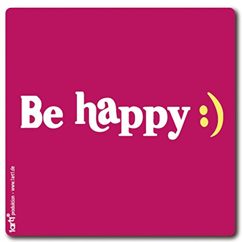 Preisvergleich Produktbild 1art1 97572 Motivation - Be Happy : Poster-Sticker Tattoo Aufkleber 9 x 9 cm