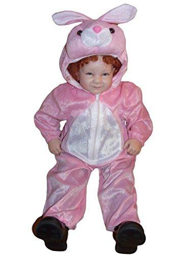 J02 Größe 86-92 Hase Kostüm für Babies und Kleinkinder, bequem über normale Kleidung zu tragen