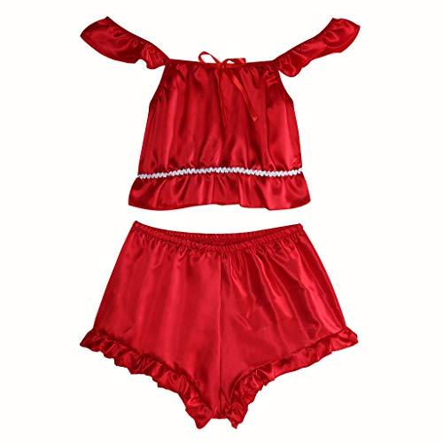 MAWOLY Babydolls Einfarbig Ultra Kurz Damendessous Damen Große Größenouvert Neckholder Schöne BHS Durchsichtiger Elegant Reizwäsche Spaghetti TräGer Sleepwear Dessous Mode Frauen