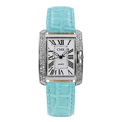 Uhren Damen Armbanduhr Frauen Vorwahlknopf-zarte Uhr Quarz Analog Klassisch Uhren Handgelenk Kleine Luxusgeschäfts Uhren Standuhren ABsoar