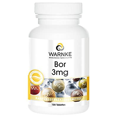 Warnke Health Products Boron 3mg, vegan, 100 tablets by Warnke Gesundheitsprodukte GmbH & Co. KG
