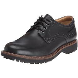 Clarks - Montacute Hall, Scarpe con lacci Derby da uomo, nero (black leather), 43
