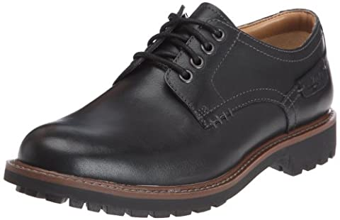 Clarks Montacute Hall, Chaussures de ville homme, Noir (Black Leather),