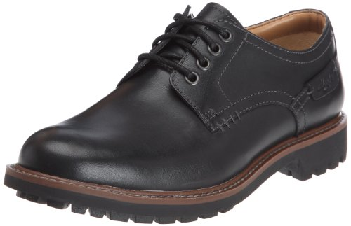 Clarks - Montacute Hall, Scarpe con lacci Derby da uomo, nero (black leather), 43