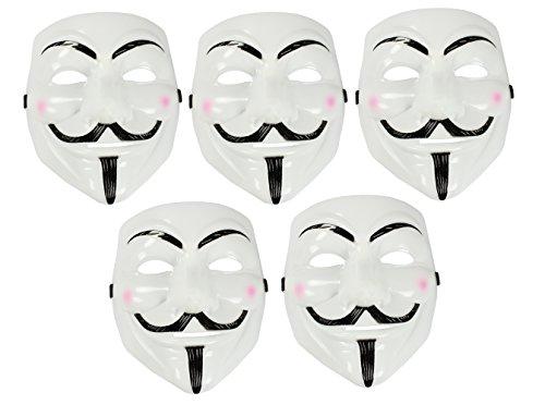 com-four® Guy Fawkes V wie Vendetta Maske Karneval -