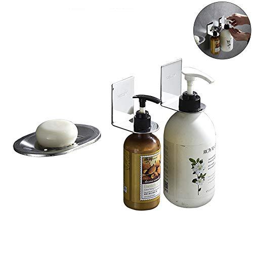 JLSYYCC 304 Edelstahl-Seifenkasten-Set, Shampoo-Ständer, Duschgel-Ständer, Seifenschutz,...